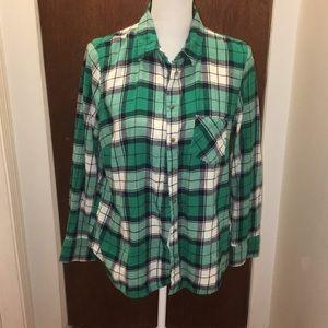Merona Green Plaid Shirt